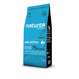 Naturea- NATURALS CAT AND KITTEN Łosoś 2 kg